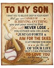 "I Want U Believe Deep In Heart Baseball Dad To Son Fleece Blanket - 50"" x 60"" front"