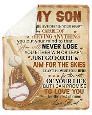 "I Want U Believe Deep In Heart Baseball Dad To Son Sherpa Fleece Blanket - 50"" x 60"" thumbnail"