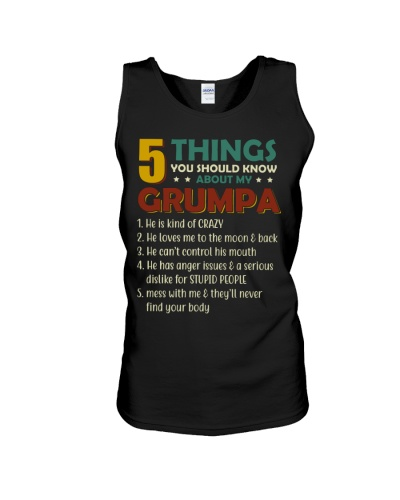 5 Things About My Grumpa - For Granddaughter