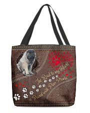 Caucasian-Shepherd-dog-the-road-to-my-heart All-over Tote back