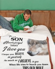 """To My Son Love You For the Rest Of Mine Large Sherpa Fleece Blanket - 60"""" x 80"""" aos-sherpa-fleece-blanket-60x80-lifestyle-front-07"""