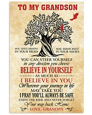 To My Grandson I Pray You'll Always Be Safe 11x17 Poster front