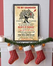 To My Grandson I Pray You'll Always Be Safe 11x17 Poster lifestyle-holiday-poster-4