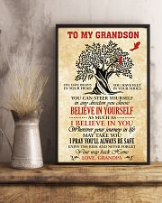 To My Grandson I Pray You'll Always Be Safe 11x17 Poster lifestyle-poster-3