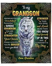 "Whenever U Feel Overwhelmed Tiger GM to grandson Fleece Blanket - 50"" x 60"" front"