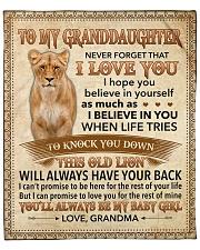 """Never 4get I Love U Lion Grandama To Granddaughter Fleece Blanket - 50"""" x 60"""" front"""