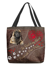 Leonberger-dog-the-road-to-my-heart All-over Tote back
