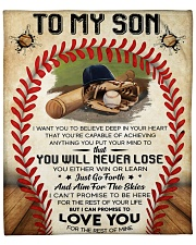 """I Want U To Believe In Your Heart Baseball To Son Fleece Blanket - 50"""" x 60"""" front"""