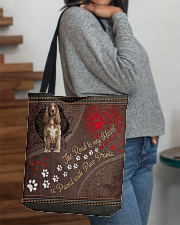 Cocker-Spaniel-dog-the-road-to-my-heart All-over Tote aos-all-over-tote-lifestyle-front-09