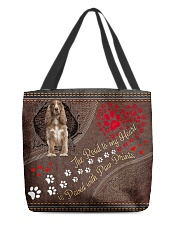 Cocker-Spaniel-dog-the-road-to-my-heart All-over Tote front
