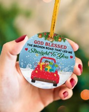 God Blessed The Broken Road That Led Me Xmas Circle ornament - single (porcelain) aos-circle-ornament-single-porcelain-lifestyles-09