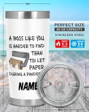 Personalized Name Boss Like You Is Harder to find 20oz Tumbler aos-20oz-tumbler-lifestyle-front-47