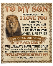 """Never Forget That I Love You-Young Lion Dad-To-Son Fleece Blanket - 50"""" x 60"""" front"""