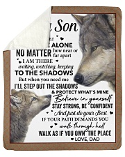 """Never Feel That You Are Alone Dad To Son Sherpa Fleece Blanket - 50"""" x 60"""" thumbnail"""