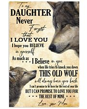 To My Daughter Love You For The Rest Of Mine 11x17 Poster thumbnail