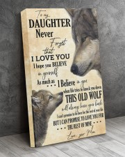 To My Daughter Love You For The Rest Of Mine 16x24 Gallery Wrapped Canvas Prints aos-canvas-pgw-16x24-lifestyle-front-02