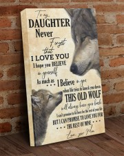 To My Daughter Love You For The Rest Of Mine 16x24 Gallery Wrapped Canvas Prints aos-canvas-pgw-16x24-lifestyle-front-03
