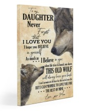 To My Daughter Love You For The Rest Of Mine Gallery Wrapped Canvas Prints tile