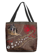 Belgian-Shepherd-Dog-the-road-to-my-heart All-over Tote front