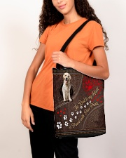 Labrador-Retriever-dog-the-road-to-my-heart All-over Tote aos-all-over-tote-lifestyle-front-07