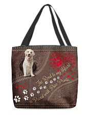 Labrador-Retriever-dog-the-road-to-my-heart All-over Tote back