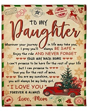 "Wherever Your Journey In Life Xmas Mom To Daughter Fleece Blanket - 50"" x 60"" front"