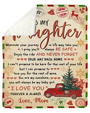 """Wherever Your Journey In Life Xmas Mom To Daughter Sherpa Fleece Blanket - 50"""" x 60"""" thumbnail"""