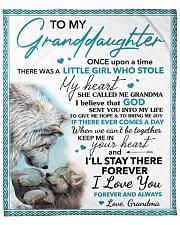 "granddaughter Keep Me In Your Heart  Wolf Fleece Blanket - 50"" x 60"" front"