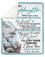 granddaughter Keep Me In Your Heart  Wolf Sherpa Fleece Blanket tile
