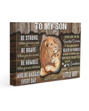 Be Strong When U Are Weak Dad To Son 14x11 Gallery Wrapped Canvas Prints front