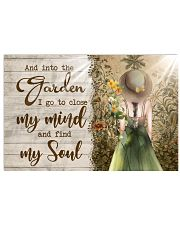 And Into The Garden I Go To Close My Mind Horizontal Poster tile