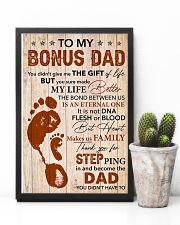 Bonus Dad Thanks For Steping And Become The Dad 11x17 Poster lifestyle-poster-8