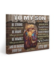 Be Strong When U Are Weak Brave Humble Mom To Son 20x16 Gallery Wrapped Canvas Prints front