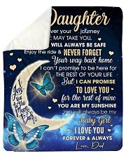 "Half Moon Promise To Love U  Dad To Daughter Sherpa Fleece Blanket - 50"" x 60"" thumbnail"