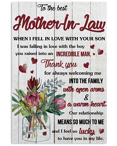 To My Mother-In-Law Thanks For Always Welcoming Me