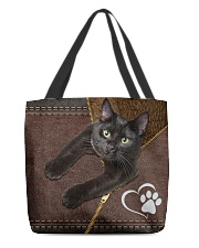 Cat Heart All-over Tote front