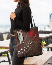 Akita-dog-the-road-to-my-heart All-over Tote aos-all-over-tote-lifestyle-front-04