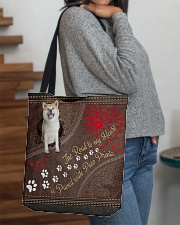 Akita-dog-the-road-to-my-heart All-over Tote aos-all-over-tote-lifestyle-front-09