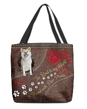 Akita-dog-the-road-to-my-heart All-over Tote front