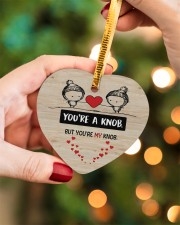 You're A Knob But You're My Knob Heart ornament - single (wood) aos-heart-ornament-single-wood-lifestyles-08