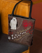 Maltese-dog-the-road-to-my-heart All-over Tote aos-all-over-tote-lifestyle-front-02