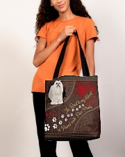 Maltese-dog-the-road-to-my-heart All-over Tote aos-all-over-tote-lifestyle-front-06