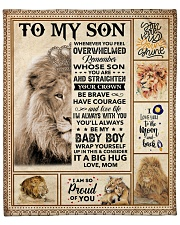 """Lion - Im So Proud Of You -  Mom-To-Son Fleece Blanket - 50"""" x 60"""" front"""
