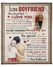 """Never Forget I LoveU Young-Old Couple To Boyfriend Fleece Blanket - 50"""" x 60"""" front"""