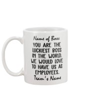 You are the luckiest boss in the world Custom Mug back