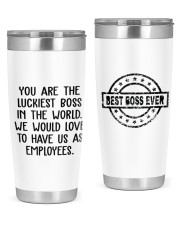 You are the luckiest boss in the world Custom 20oz Tumbler tile