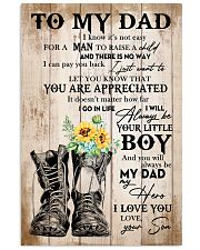 Dad You'll Always Be My Dad My Hero I Love You 11x17 Poster front