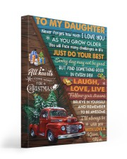 Red Truck Christmas Tree Daughter Laugh love live Gallery Wrapped Canvas Prints tile