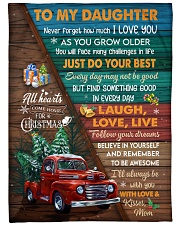"""Red Truck Christmas Tree Daughter Laugh love live Large Fleece Blanket - 60"""" x 80"""" front"""