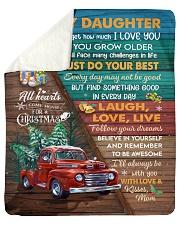 Red Truck Christmas Tree Daughter Laugh love live Sherpa Fleece Blanket tile